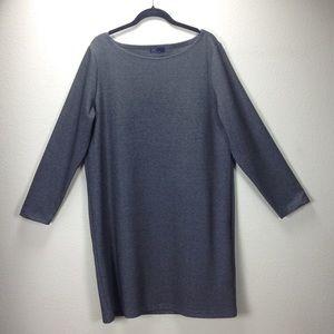 Gap Gray Long Sleeve Pull On Dress